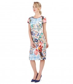 Printed cotton dress with pockets