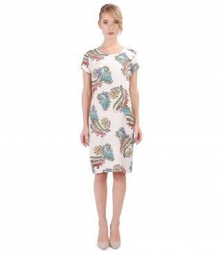 Casual dress made of printed viscose