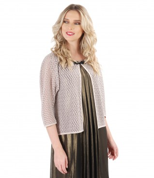 Lace bolero with cotton