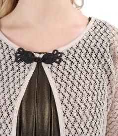 Lace bolero with cotton