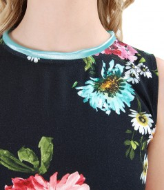 Viscose dress with floral print