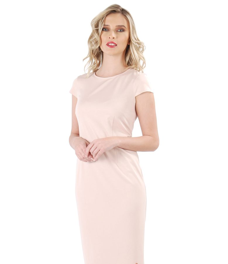 Midi dress made of elastic jersey with viscose