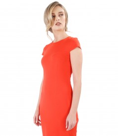 Midi elastic jersey dress with viscose