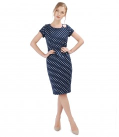 Elegant dress with elastic cotton