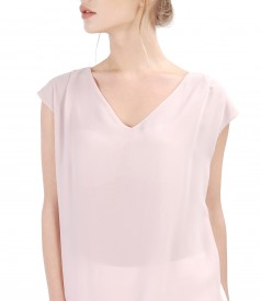 Elegant blouse with veil front