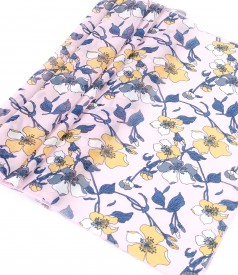 Veil scarf with floral print