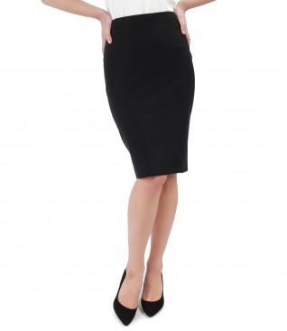 Midi skirt with zipper