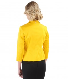 Elastic cotton jacket with 3/4 sleeves