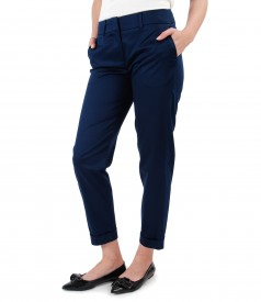 Elegant pants made of elastic cotton