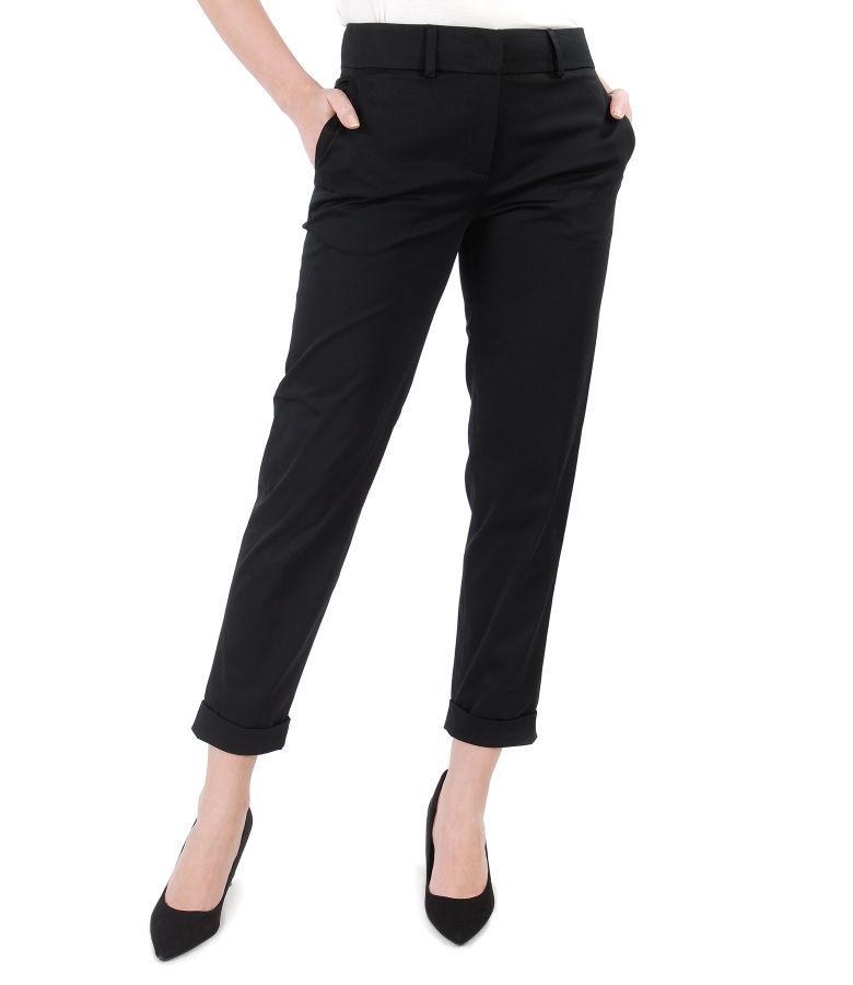Elegant pants made of elastic cotton
