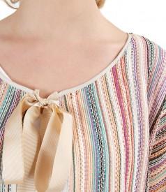 Lace bolero with 3/4 sleeves