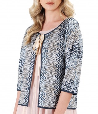 Lace bolero with 3/4 sleeves