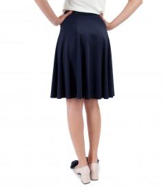 Elastic jersey flaring skirt