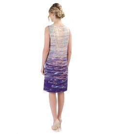 Viscose dress without sleeves