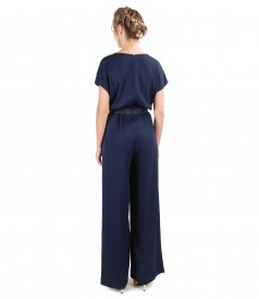 Viscose overall with pockets and trim