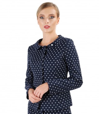 Office jacket made of printed cotton