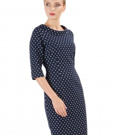 Midi dress made of printed cotton