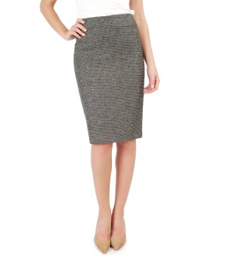Multicolor loops skirt with cotton