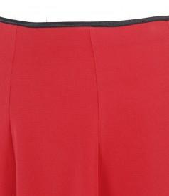 Elastic fabric flaring skirt
