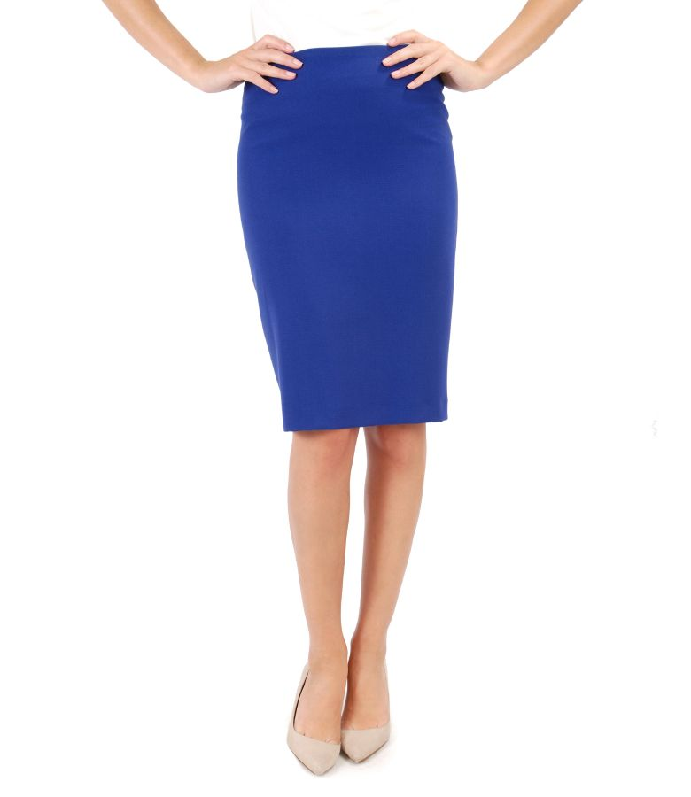 Midi skirt made of elastic fabric