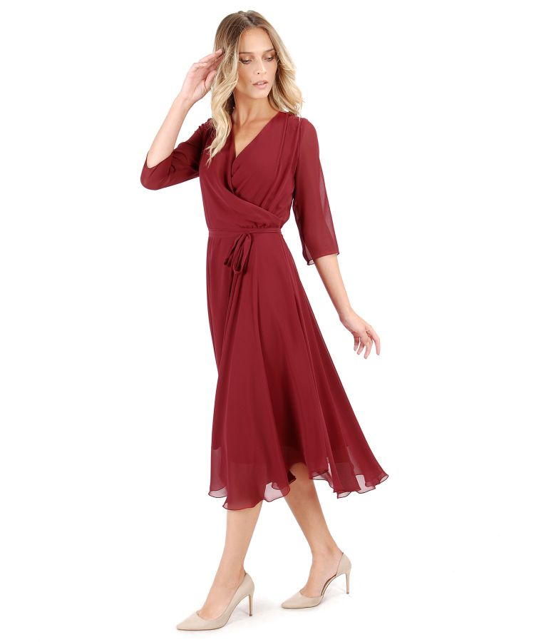 Veil evening dress