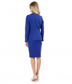 Office woman suit with jacket and fabric skirt