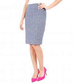 Multicolor loop skirt with cotton