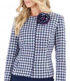 Multicolor loop jacket with cotton