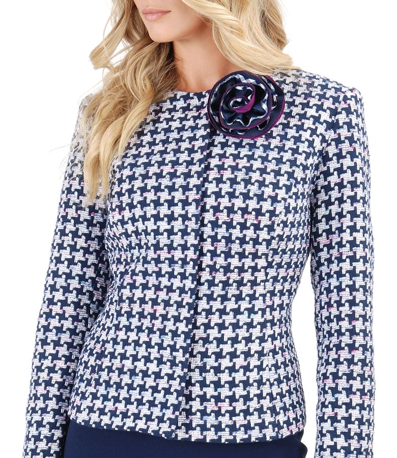Multicolor loop jacket with cotton