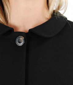 Elegant jacket with round collar