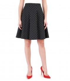 Brocade cotton skirt