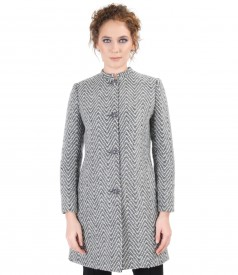 Elegant jacket with pockets and zipper