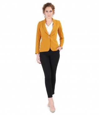 Elastic fabric jacket and pants