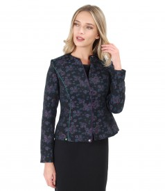 Elegant jacket made of brocade with wool