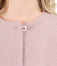Loop jacket with wool and alpaca