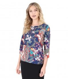 Cotton jersey blouse
