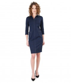 Elastic jersey dress with pockets