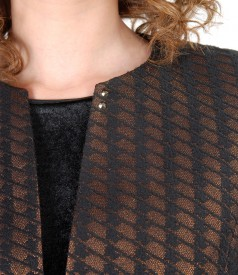 Elegant jacket with Swarovski crystals on the shoulder