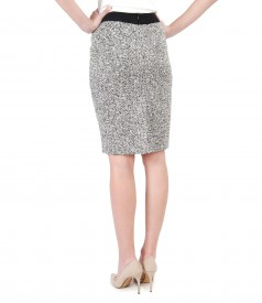Office skirt with cotton loops