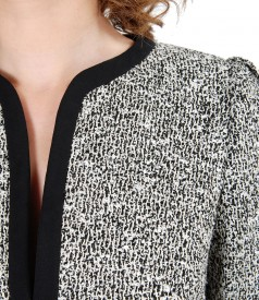 Office jacket with cotton loops