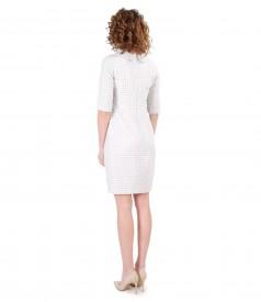 Elastic fabric dress with Swarovski crystals