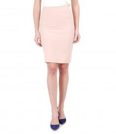 Midi skirt made of elastic fabric