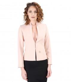 Elastic fabric jacket with Swarovski crystals