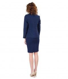 Office woman suit with skirt and elastic fabric jacket