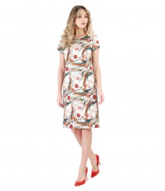 Cotton dress with floral print