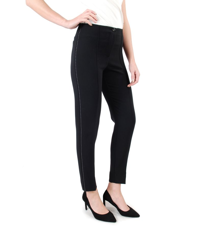 Ankle pants made of elastic fabric with side seam