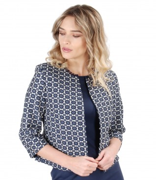 Elegant jacket with corrugated elastic cotton