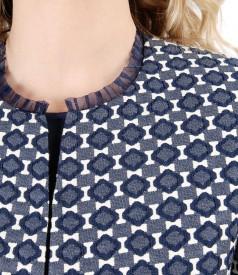 Elegant jacket with corrugated elastic cotton