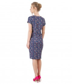 Casual dress made of viscose printed with lace corner