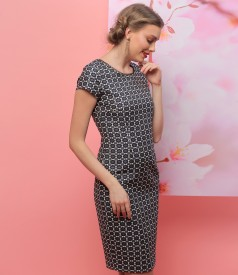 Elegant dress made of elastic cotton